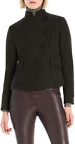 Max Studio Heathered Wool Flannel Jacket