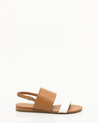 Le Château Faux Leather Double Band Sandal