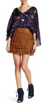 Cupcakes And Cashmere Fringe Zip Skirt