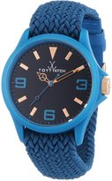Toy Watch Women's Quartz Polycarbonate and Fabric/Steel, Color:Blue (Model: ST08LB)