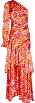 AMUR Israella One-Shoulder Floral Dress