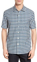 Tommy Bahama Men's Checka Colada Original Fit Short Sleeve Sport Shirt