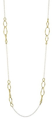 Marco Bicego Marrakech Onde 18K Yellow Gold Coil & Rolo Link Medium Chain Necklace