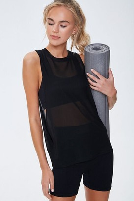 Forever 21 Active Sheer Mesh Muscle Tee