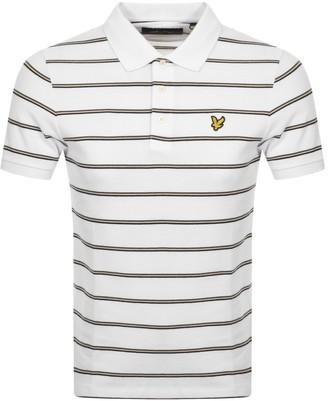 Lyle & Scott Multi Striped Polo T Shirt White