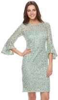 Onyx Nite Women's Embellished Lace Sheath Dress