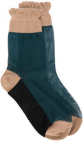 Marni sheer socks - women - Silk/Wool - S