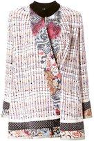 Etro bouclé patchwork coat