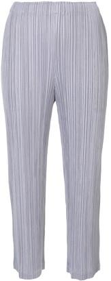 Pleats Please Issey Miyake Wide-Leg Trousers