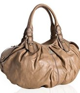 Gustto beige leather 'Assolo' large bag