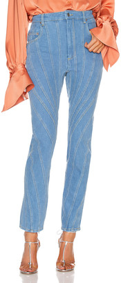 Thierry Mugler Skinny Jean in Blue | FWRD