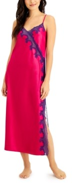 INC International Concepts Satin Lace Nightgown, Created for Macy's