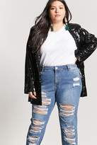 Forever 21 FOREVER 21+ Plus Size Distressed Chain Boyfriend Jeans