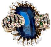 Roberto Cavalli Feline & Multicolor Crystal Cocktail Ring