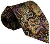 Shlax & Wing Shlax&Wing Multi-colored Paisley Men's Necktie Tie 100% Silk Wedding Extra Long