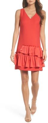 Brinker & Eliza Ruffle Hem Sheath Dress (Regular & Petite)