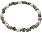 Simon Carter Multi Skull Bracelet In Brushed, Polished & Gunmetal Finish