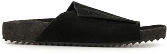 James Perse Touch-Strap Suede Sandals
