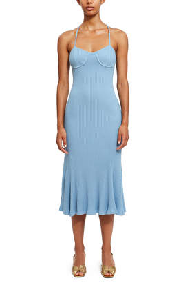 Callipygian Rib Knit Dress