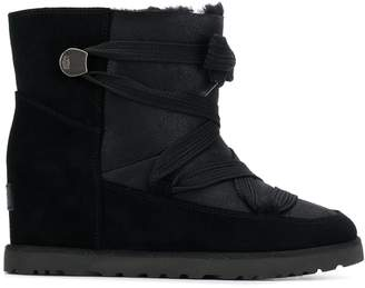 UGG lace-up wedged boots