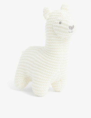 The Little White Company Llama knitted squeak toy 17cm