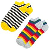 Etiquette Clothiers Multi Stripes Ankle-Calf Socks (2 PK)