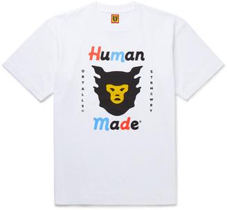 Human Made Logo-Print Cotton-Jersey T-Shirt