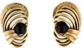 Oscar de la Renta Sculpted Resin Clip-On Earrings
