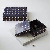 west elm Brass Dot Boxes