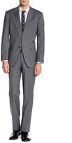 Tommy Hilfiger Vasser Gray Plaid Two Button Notch Lapel Suit