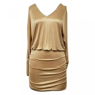 Dolce & Gabbana Gold Cotton Dresses