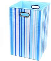 Modern Littles Laundry Basket Sky Stripes