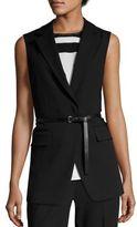 MICHAEL Michael Kors Long Skinny Belted Vest
