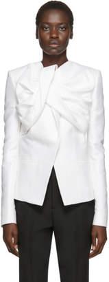 Haider Ackermann White Drape Blazer