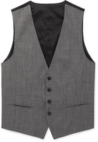 HUGO BOSS Grey Slim-Fit Puppytooth Virgin Wool Waistcoat