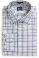 John W. Nordstrom R) Trim Fit Plaid Dress Shirt