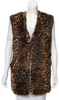 Dries Van Noten Animal Printed Fur Vest