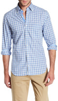 Tailorbyrd Long Sleeve Plaid Trim Fit Woven Shirt