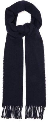Raey Mesh Wool-blend Scarf - Navy