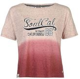 Soul Cal SoulCal Womens Dip Dye T Shirt Tee Top Short Sleeve Round Neck Nepped Fabric