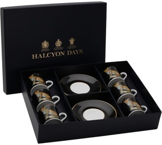 Halcyon Days Leopard Coffee Cup And Saucer Set