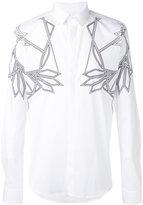 Les Hommes geometric print shirt - men - Cotton/Spandex/Elastane - 46