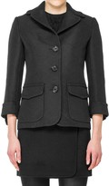 Max Studio Jacquard Fitted Jacket
