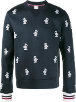 Moncler Gamme Bleu duck embroidered sweatshirt - men - Cotton/Polyester/Virgin Wool - S