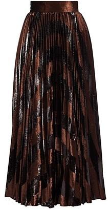 Dolce & Gabbana Velvet Inset Chevron Midi Skirt