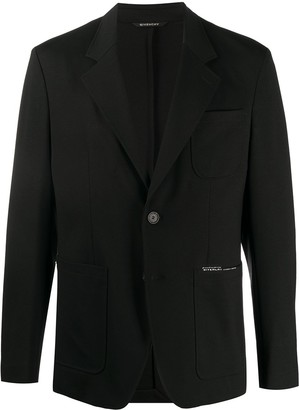 Givenchy Single-Breasted Logo Blazer