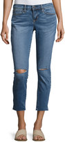 Nicole Miller Mid-Rise Skinny Cropped Jeans, Blue