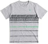Quiksilver Boys' Geo Striped Logo Tee - Sizes 8-20