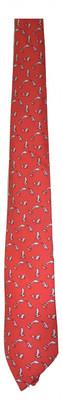 Hermes Red Silk Ties