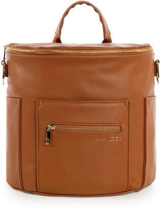 Fawn Design The Mini Convertible Water Resistant Faux Leather Diaper Bag